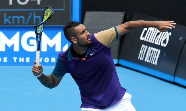 Nick Kyrgios vents frustration as he exits Australian Open warm-up event
